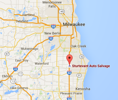 Driving directions to milwaukee salvage yard