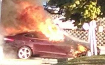 Car on Fire in Waukesha to Sell to Junk Yard