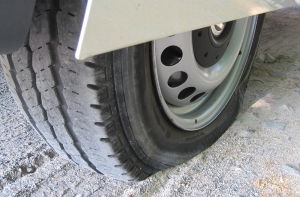 Underinflated Tire With Wear