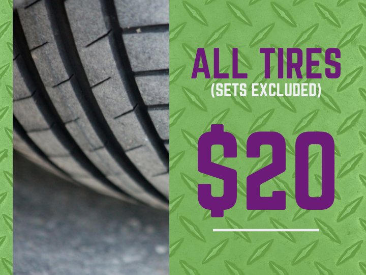 Used Tires are $20 for Ford, Bronco, Escape, Explorer Cars